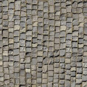 Vinylboden Pflastersteine grau natur