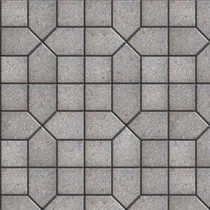 Vinylboden Pflastersteine geometrisch grau
