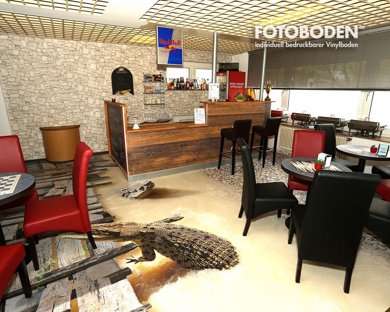 Spielhölle Ladenbau Fußboden