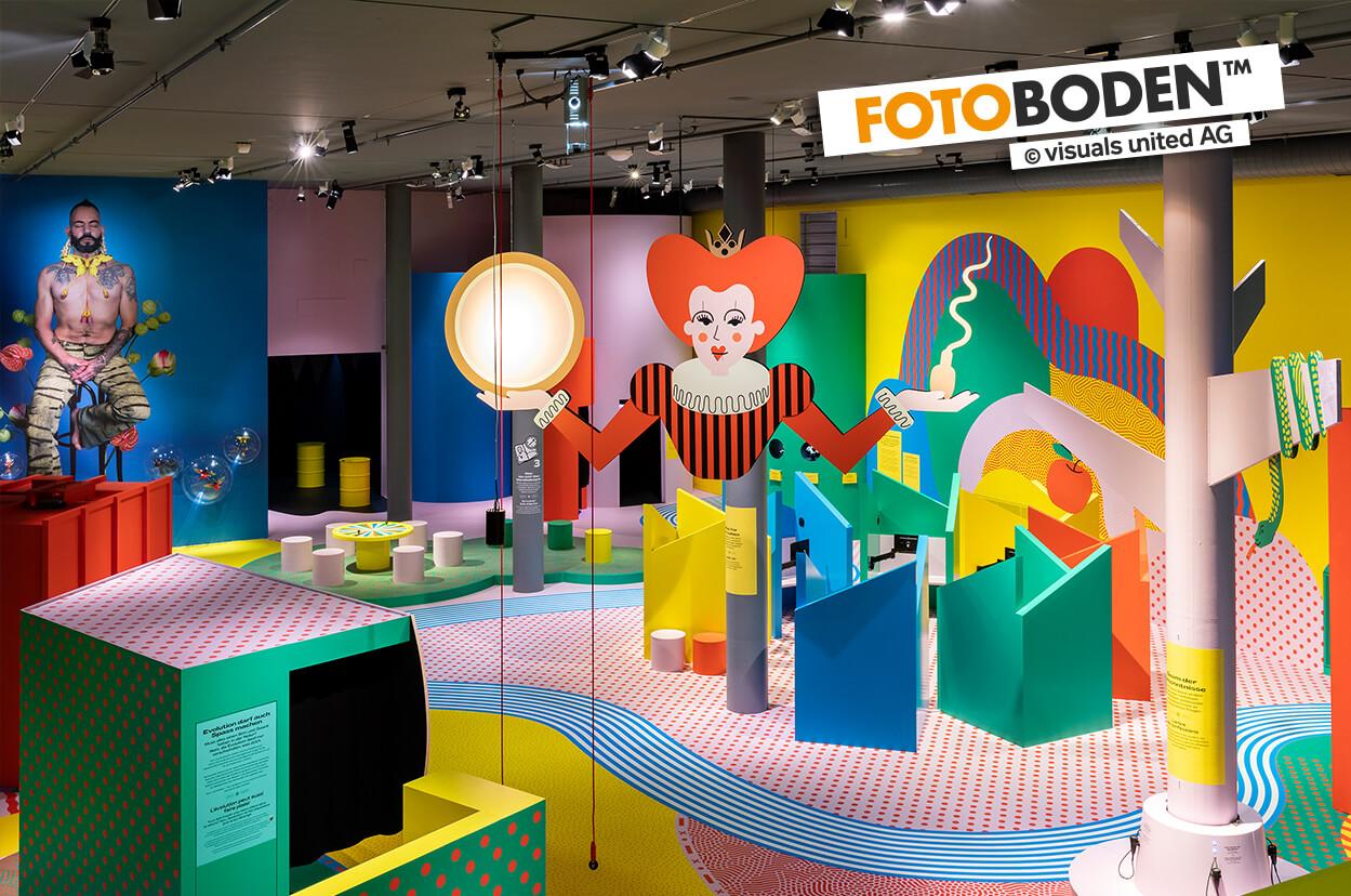 Pop Art Ausstellung im Naturhistorischen Museum Bern mit FOTOBODEN™