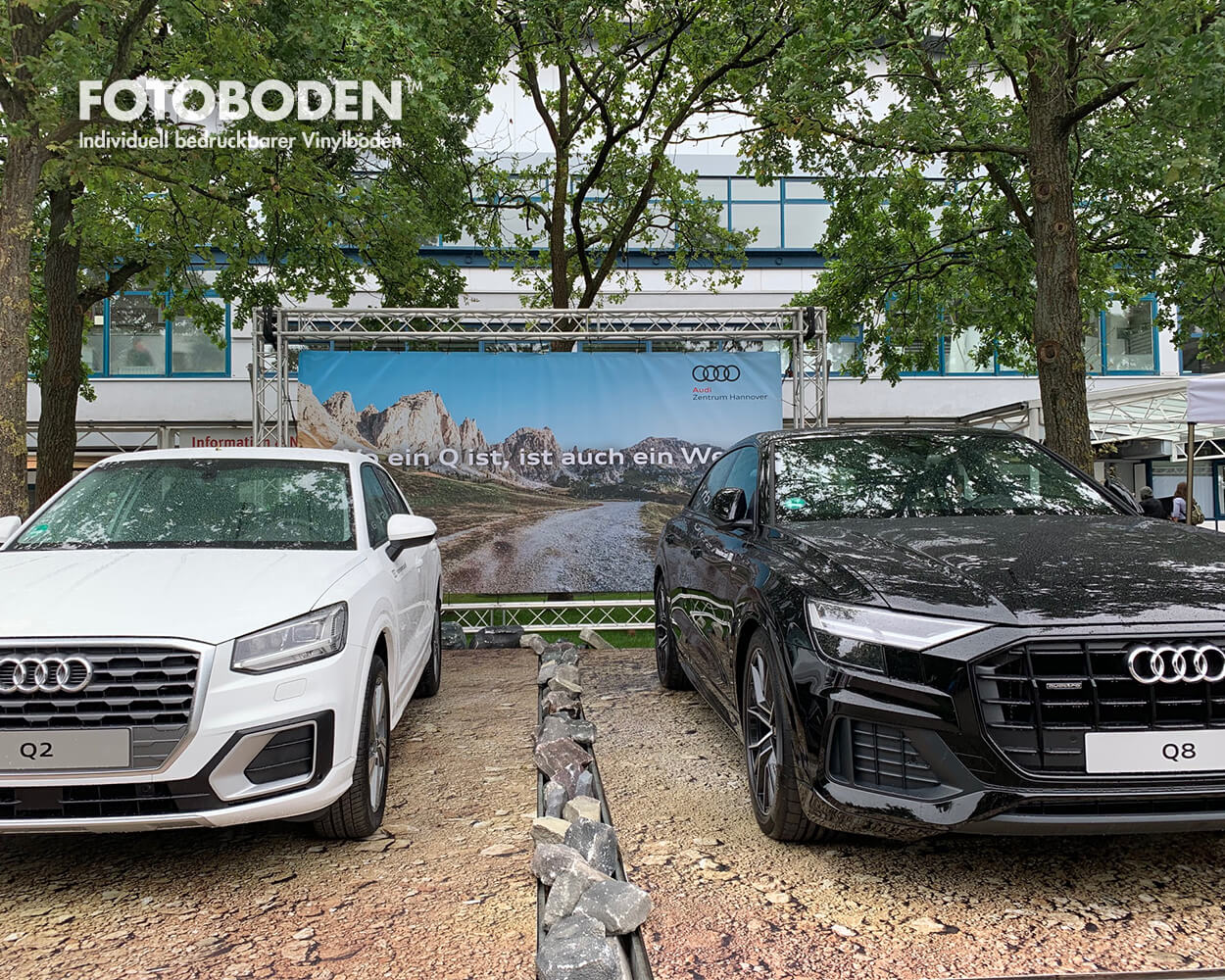 Auto Promotion Boden Indoor Ausstellungsdesign