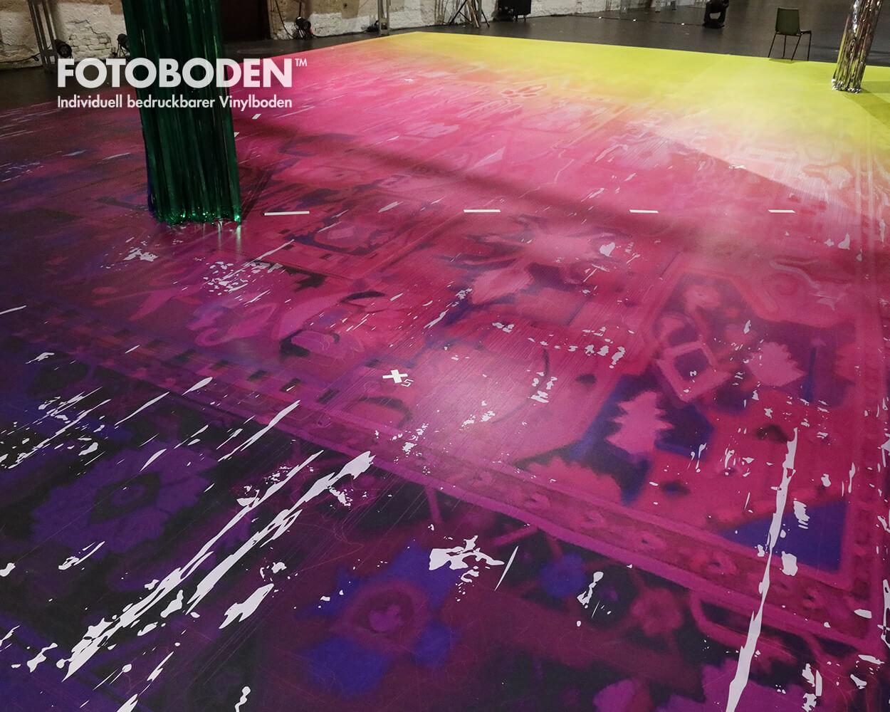 Fotodruck Fussbodengestaltung Bühnenbau