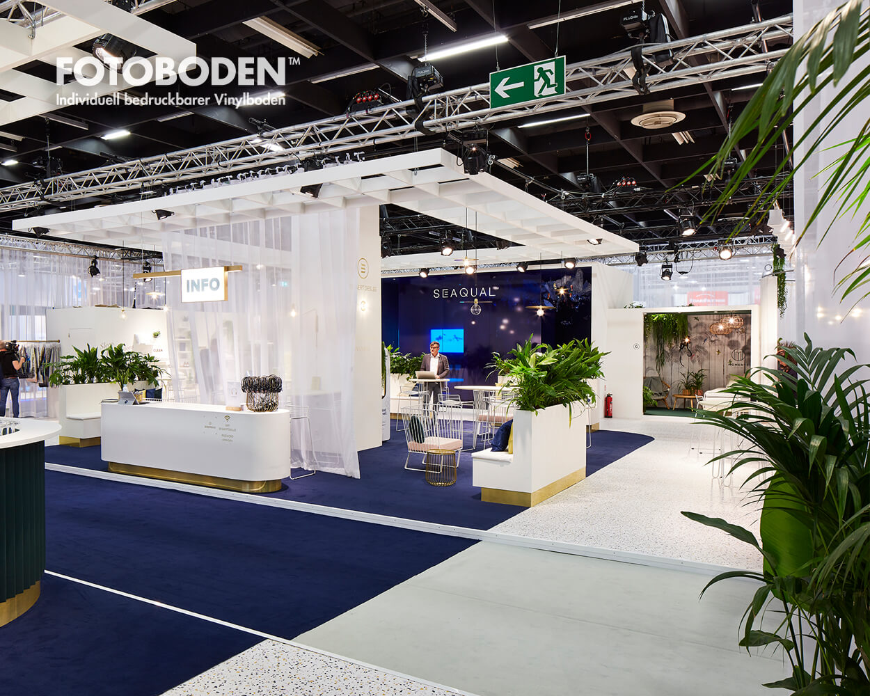 Messeboden Bodendesign Messebau Messeteppich