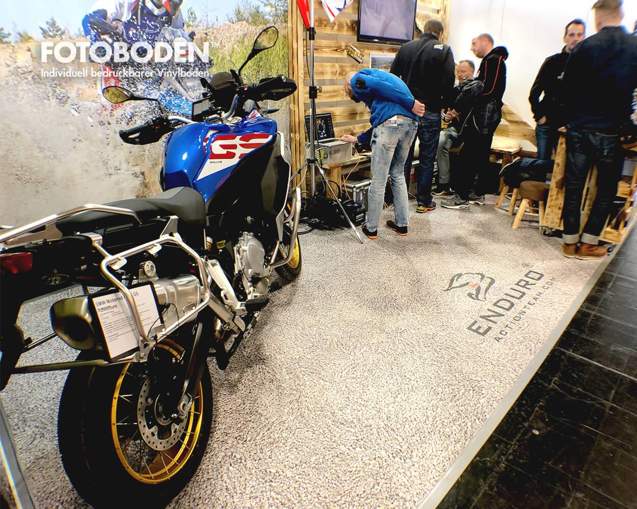 Motorradmesse Fototeppich Messeboden Messegestaltung