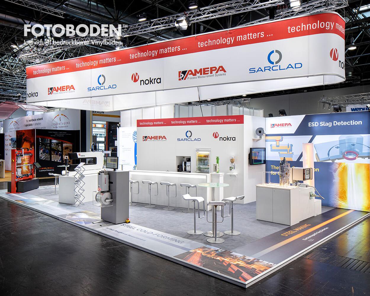 Messeboden Bodenwerbung Bodendesign Düsseldorf