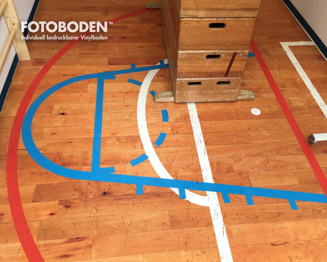 Sporthallenboden Holzoptik spielenden PVC