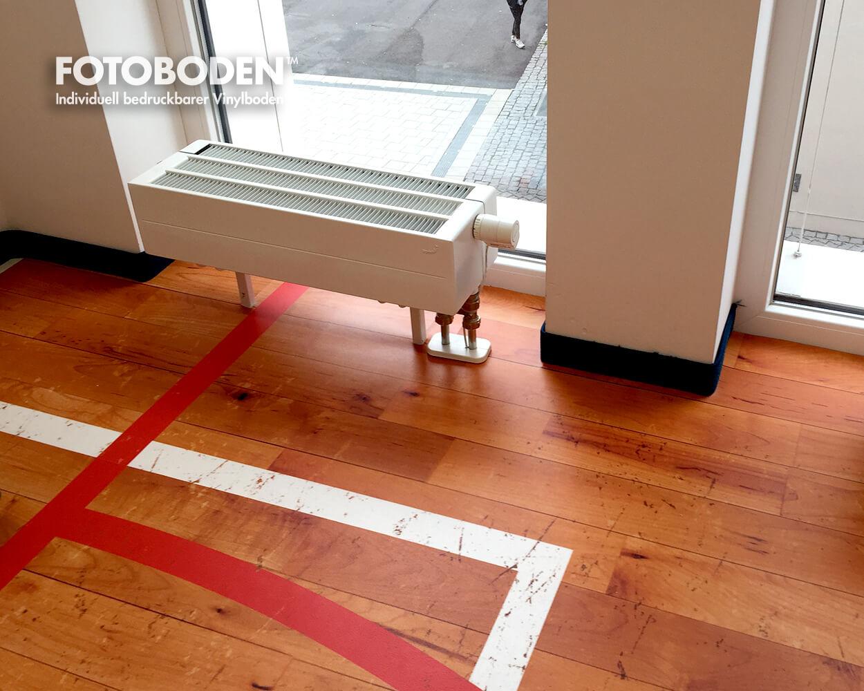 Sporthallenboden Holzoptik Vinylboden