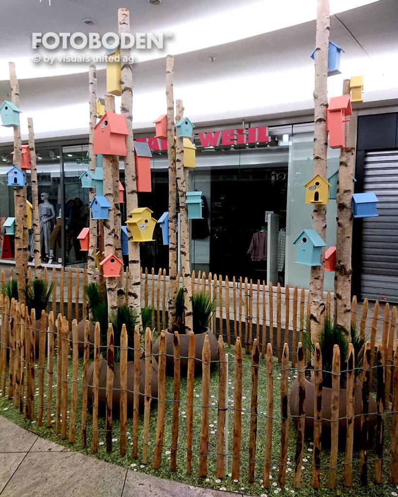 Fotoboden Grassoptik Ladenbau Indoor