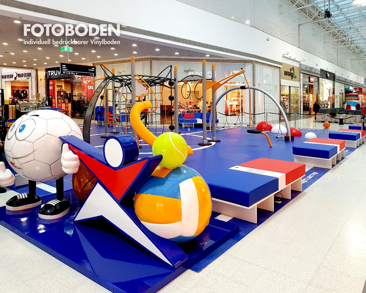 Ladengestaltung Fußboden fotoboden