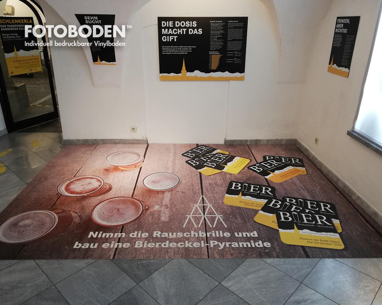FOTOBODEN™ Bierausstellung Designboden
