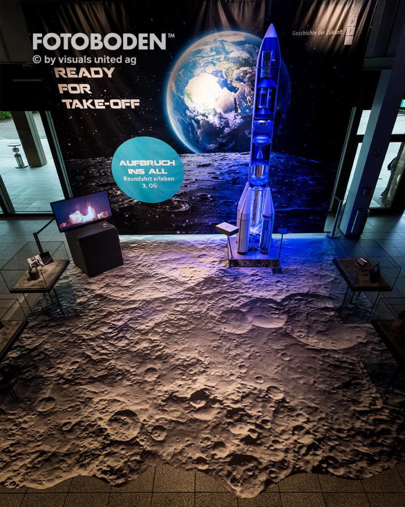 Mondboden Fotoboden Raumfahrt