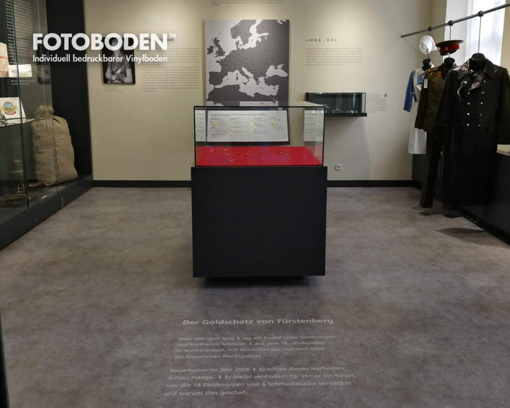 Fürstenberg Ausstellung Raumkonzept Museumsboden Ausstellungsboden