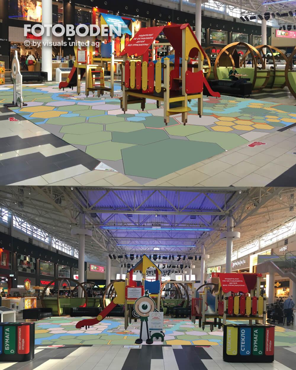 Verkaufsfläche Bodengestaltung Indoor Kinderspielplatz