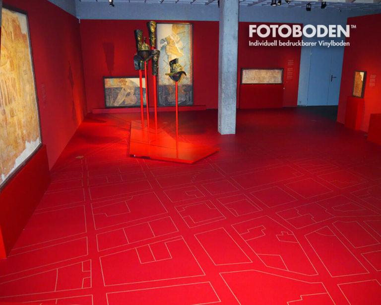 antiken Museum roter Boden