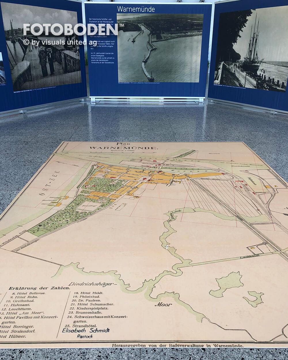 Landkarte auf dem Boden