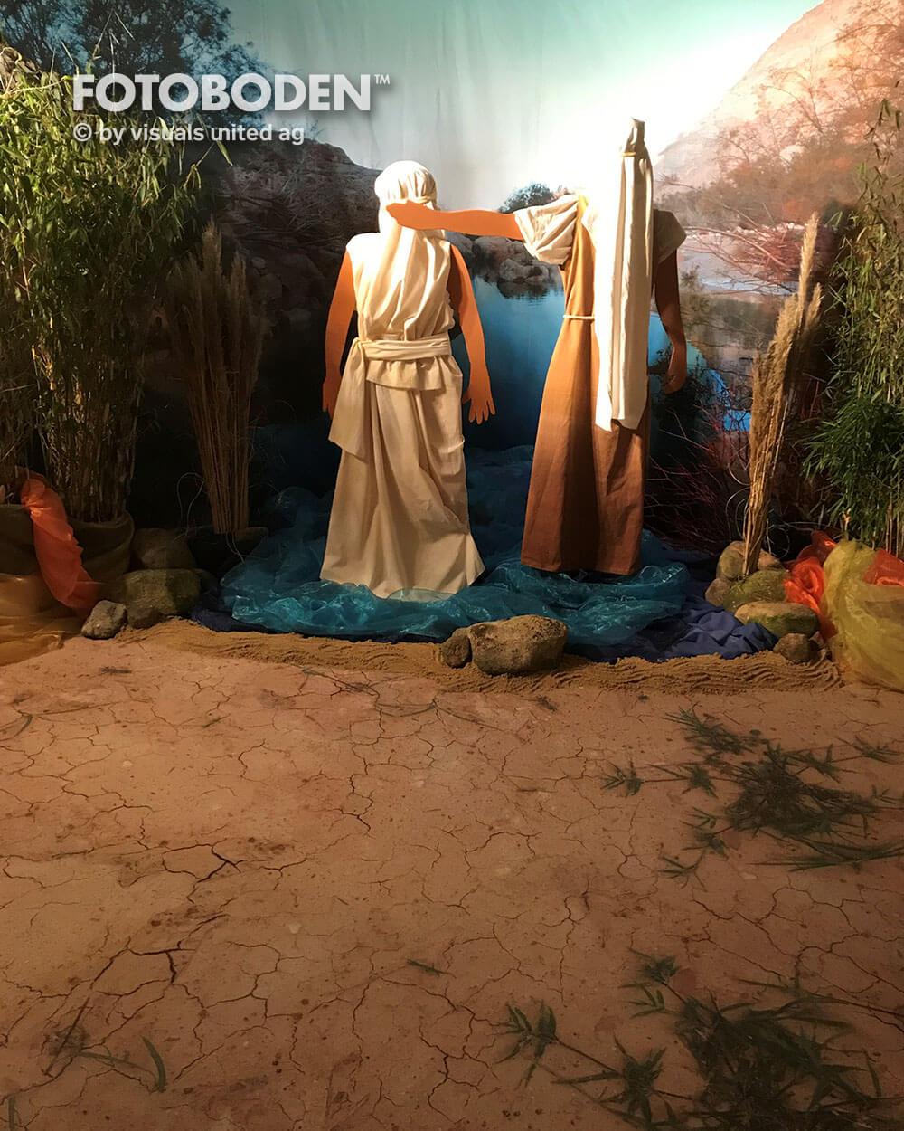 Ausstellungsboden Museumboden Sandboden