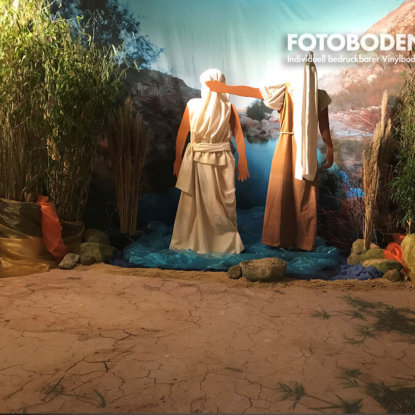 Menschen Begegnen Jesus Ausstellung Boden Design