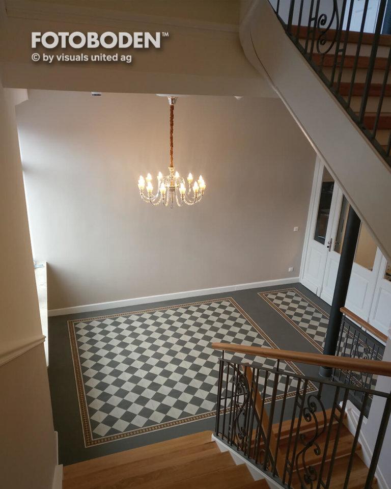 Vintage Fliesen Treppenhaus