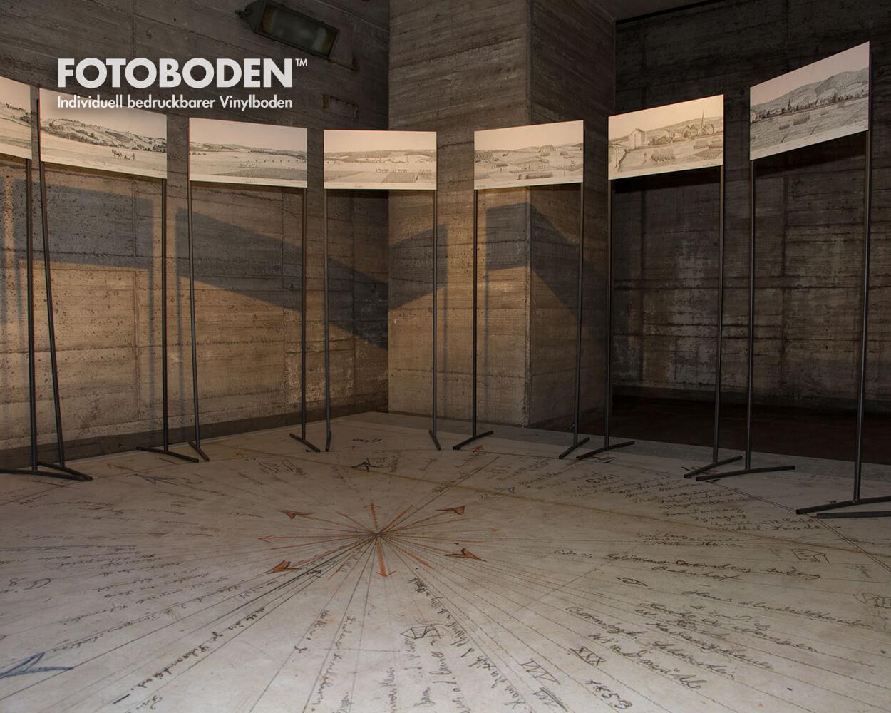 Fotoboden Vinylboden Museumsboden