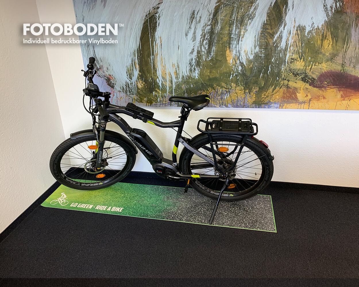Produktoräsentation Fahrrad Verkaufförderung