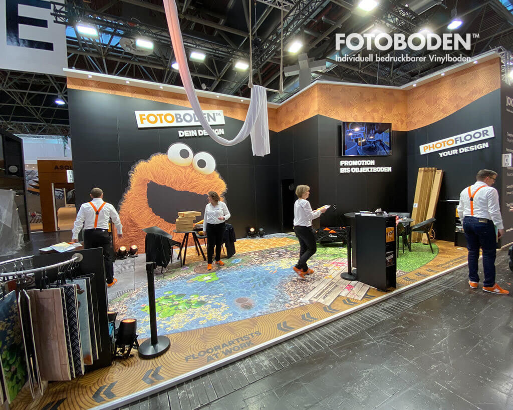 FOTOBODEN Messestand Euroshop 2020