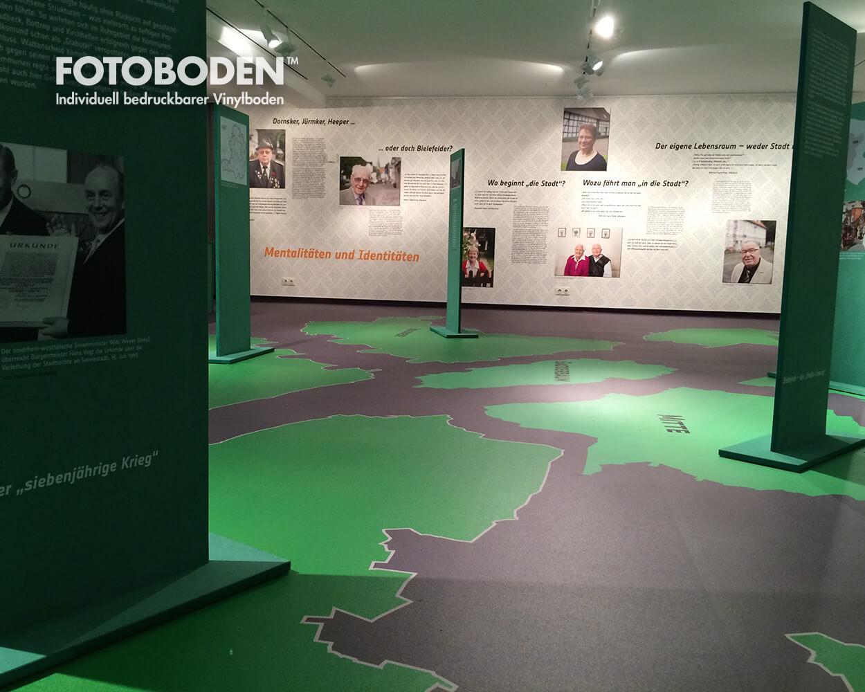 grüne Dörfer Ausstellungsdesigner museumboden
