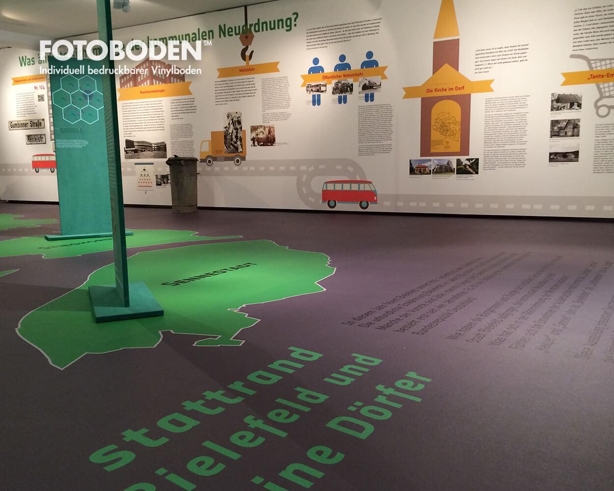 grüne Dörfer Ausstellungsbau Ausstellungsdesign