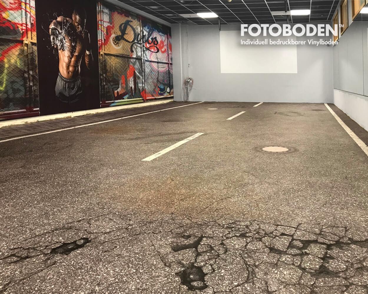 Asphaltboden Design Vinylboden