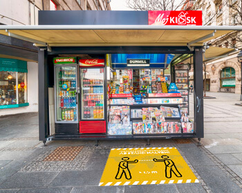 kiosk abstand halten