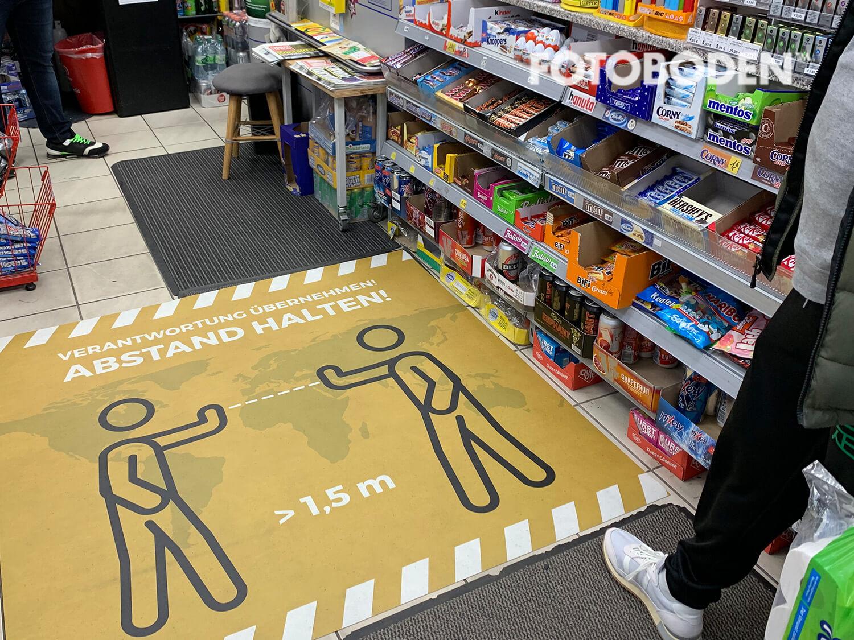 Kiosk bodenmatte abstand