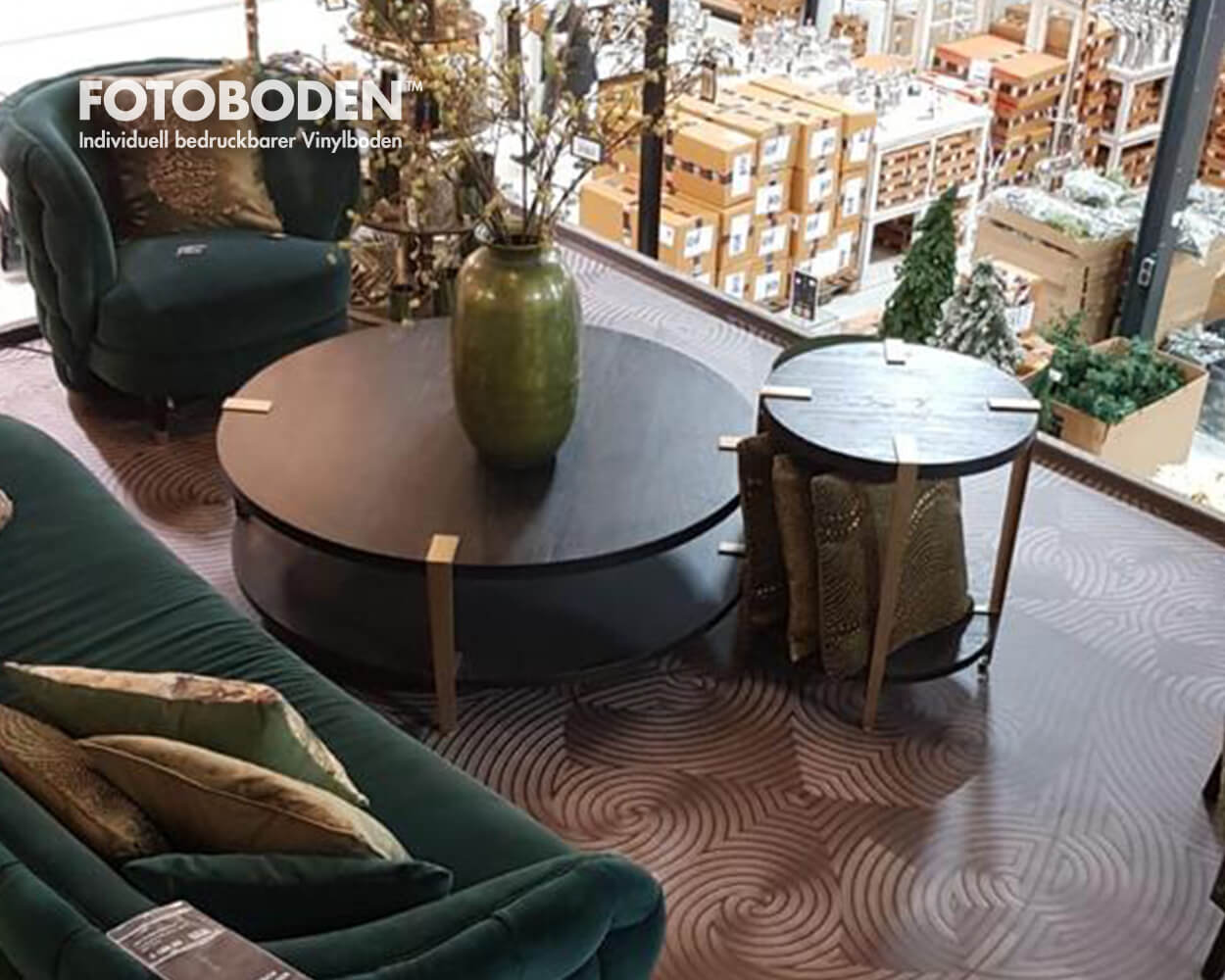 Deko und Möbelhaus Designbodenbelag