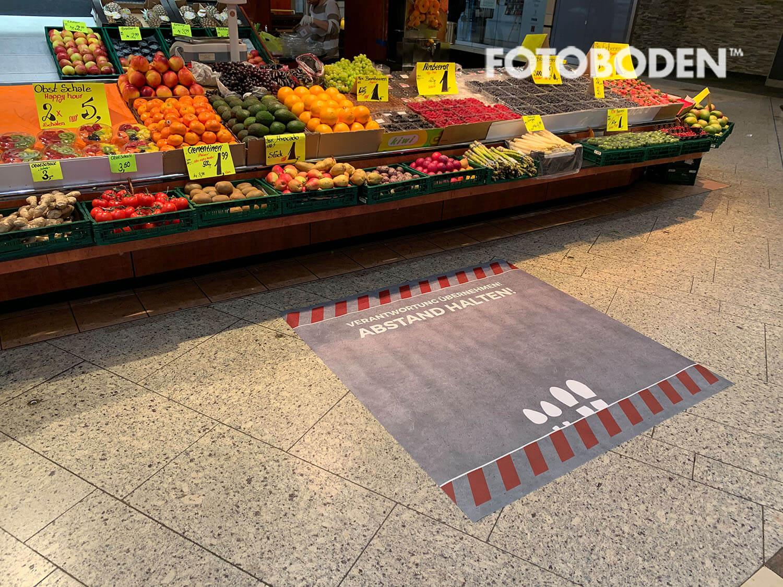 Obst supermarkt abstand halten