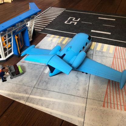 Playmobil Flugplatz Bodenbelag Vinyl